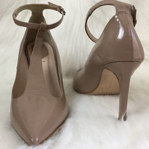 Zara Woman T-Strap Leather Heels, 41
